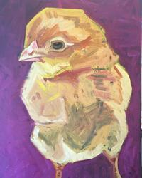 Chick on Purple